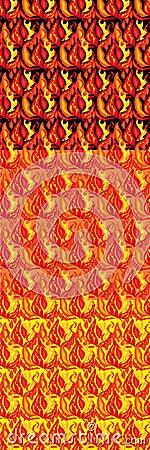 Set brennende nahtlose Strukturen