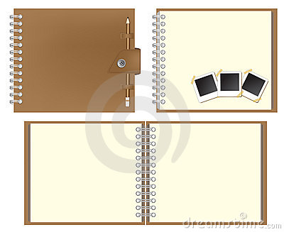 Set of Brown notebook