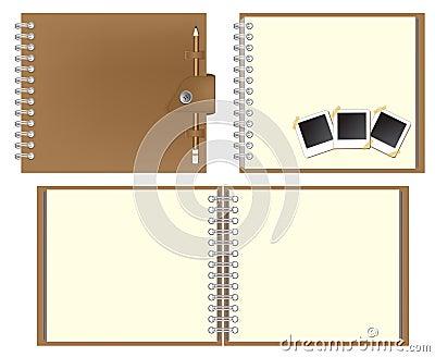 Set of Brown notebook