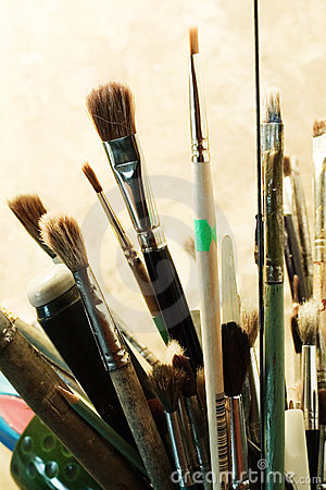 Set of brushes for painting