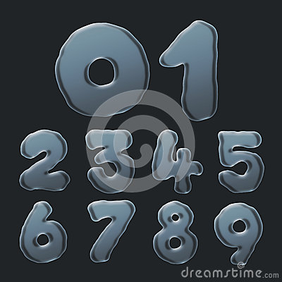 Set of Bubble Numbers 0-9