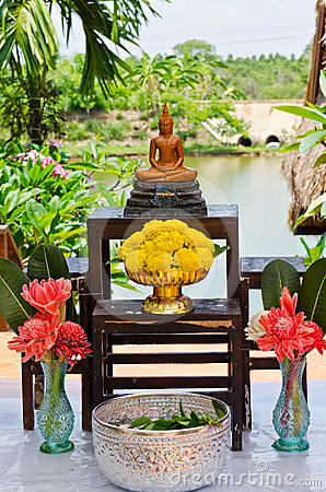 Set of buddha for Songkran festival