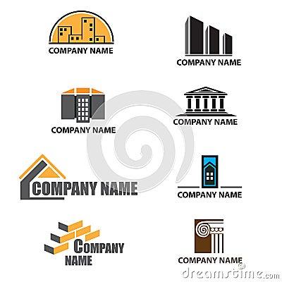 Set Of Building Company Logos
