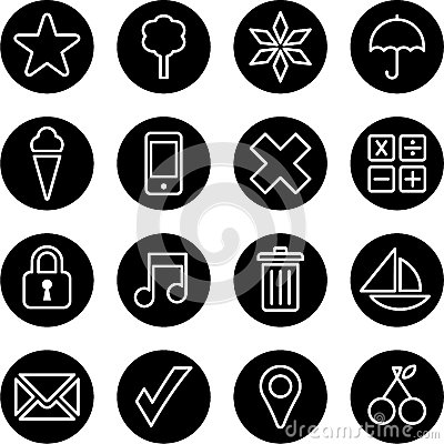 Set of business buttons
