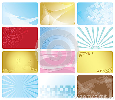 Set - business cards with abstract design - eps