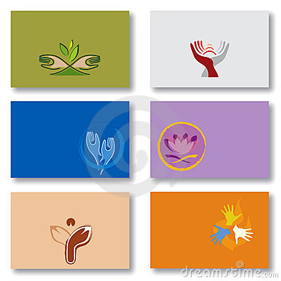 Set of Business Cards - Spirituality/Energy/Hands