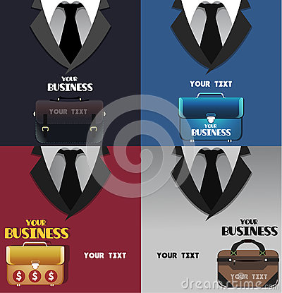 Set of business colored backgrounds with space for text Vector Illustration