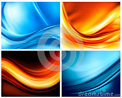 Set of business elegant colorful backgrounds