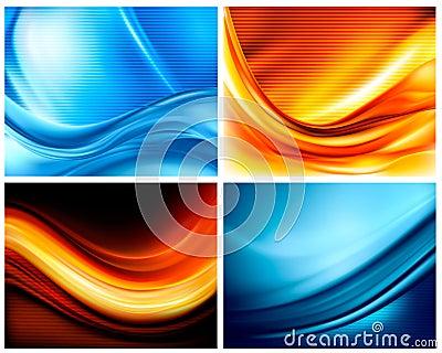 Set of business elegant colorful backgrounds
