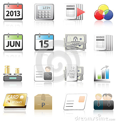 Business, finance  and accountant icons set