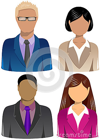 Set of Business People Icons [3]