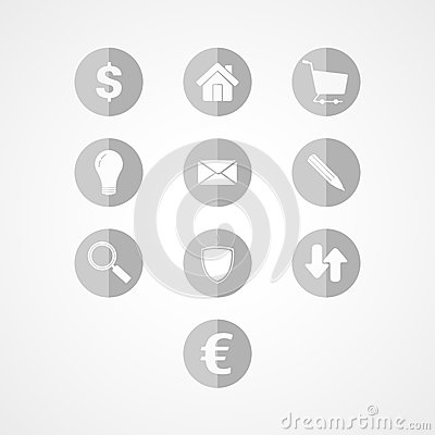 Set business web icon