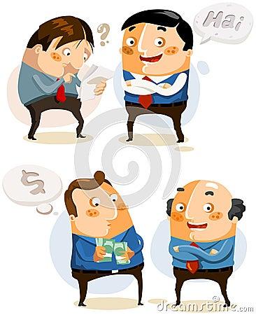 Set Businessman on vary activity