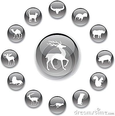 Set buttons - 159_A. Animals