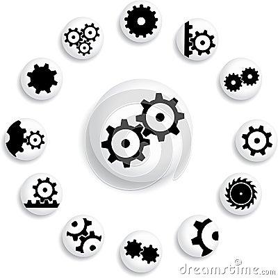 Set buttons 18B. Gears