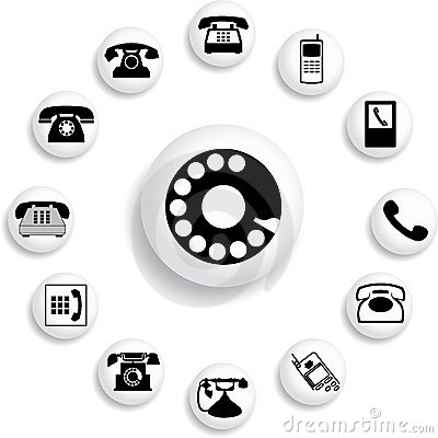 Free Set Buttons - 32_B. Phones Stock Images - 5538414