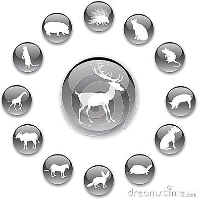 Set buttons - 54_A. Animals