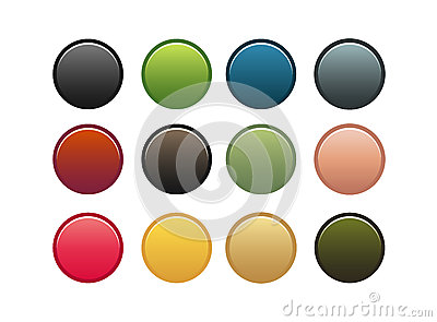 Set of 12 buttons