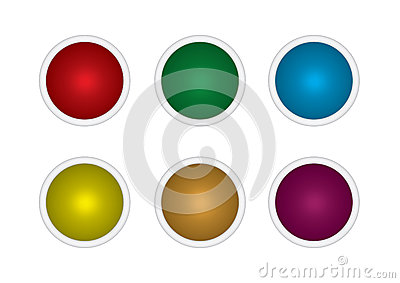 Set buttons multicolored