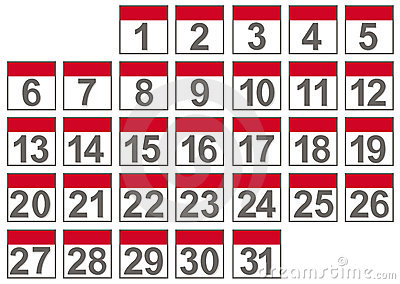 Set Of Calendar Files Stock Images - Image: 18688924