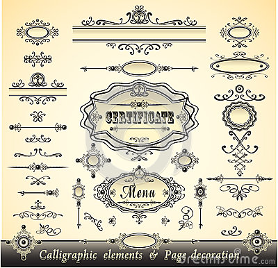 Set calligraphy and pages decoration