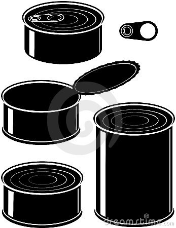Set of cans - canned food