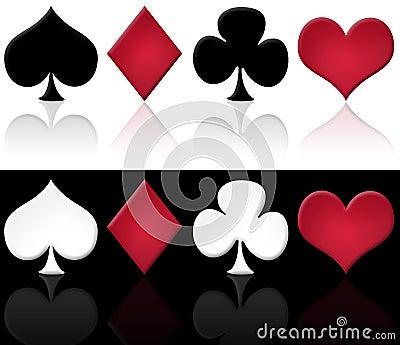 Set of cards symbols