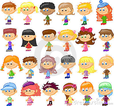 Set cartoon children,vector