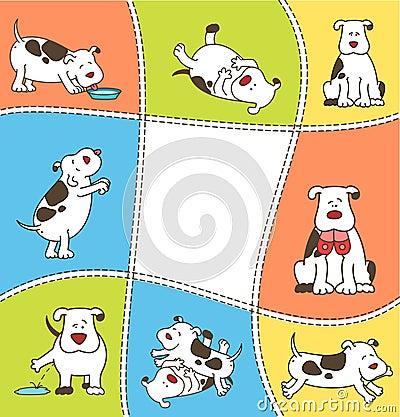 Set of cartoon dogs.