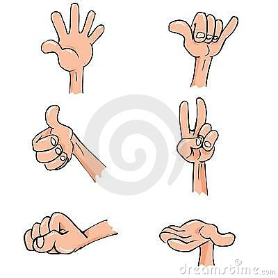 Set of Cartoon hands in everyday poses