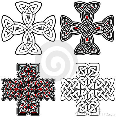 Set of celtic crosses design elements