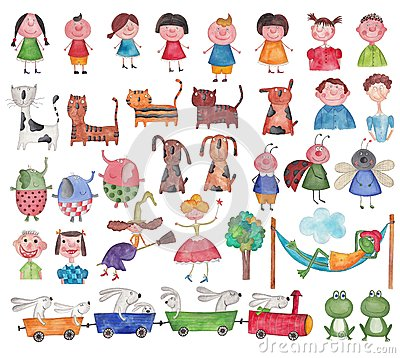 Free Set Characters Stock Image - 42222361