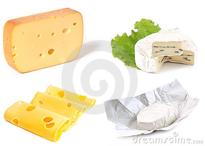 Set of cheeses