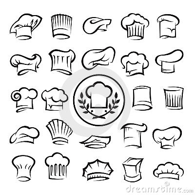 Set of chef hats