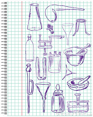 A set of chemical equipment