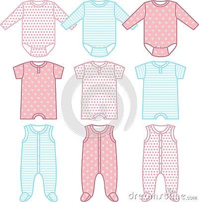 Set of child wear