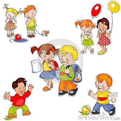 Set of children