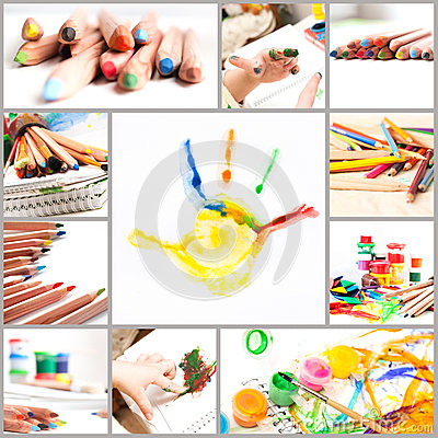 Set of children creativity