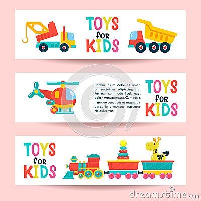 A set of childrens toys. Vector illustration Vector Illustration