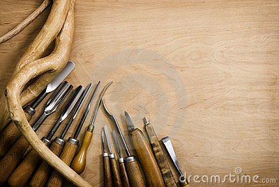 Set of chisels for woodcarving