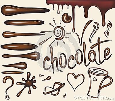 Set of chocolate brushs