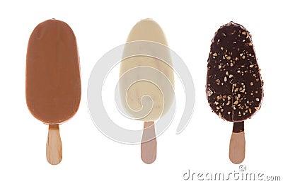 Set chocolate ice cream
