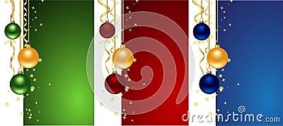 Set christmas backgrounds