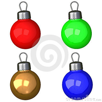 Set of christmas balls 3d