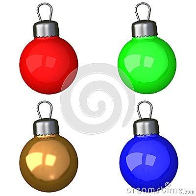 Set of christmas balls 3d