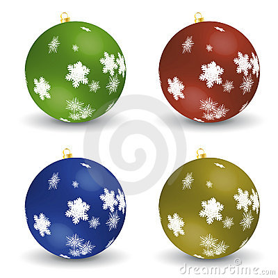 Set of christmas balls - vector file added