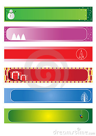 Set christmas banners