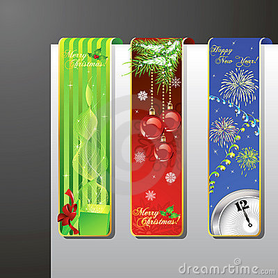 A set of christmas banners