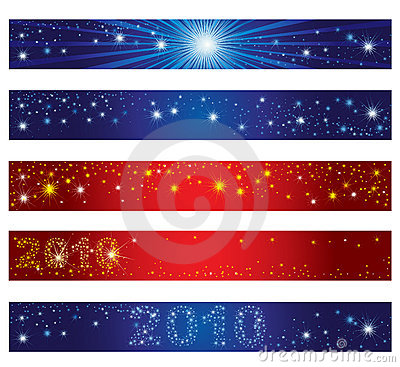 Set of Christmas banners with stars