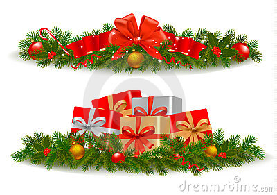 Set of Christmas banners. Vector
